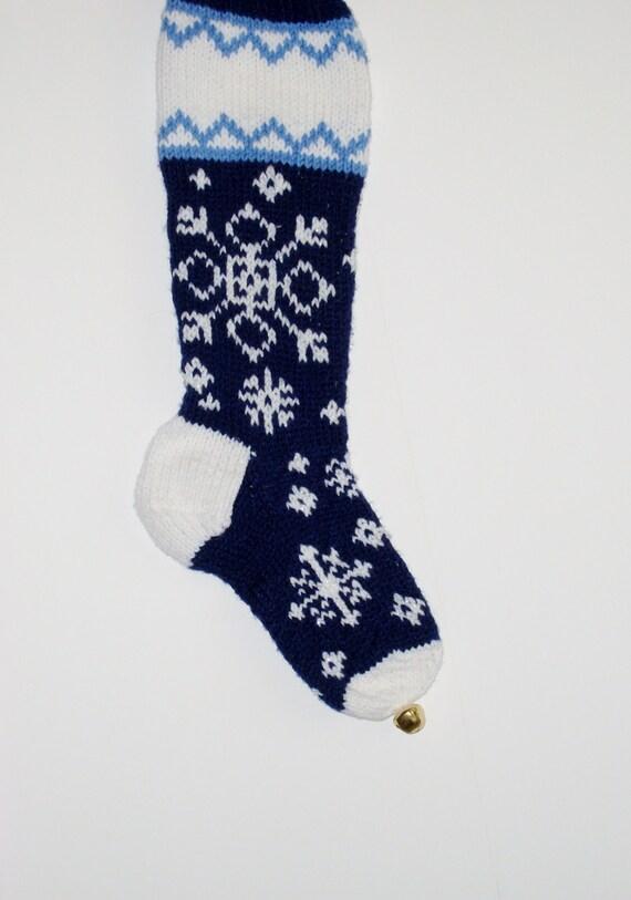 Blue Snowflake Stocking 8