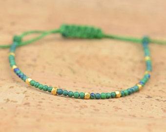 Gold and Malachite bracelet