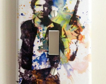 Han Solo Star Wars Art Room Decor Decorative Light Switch Cover