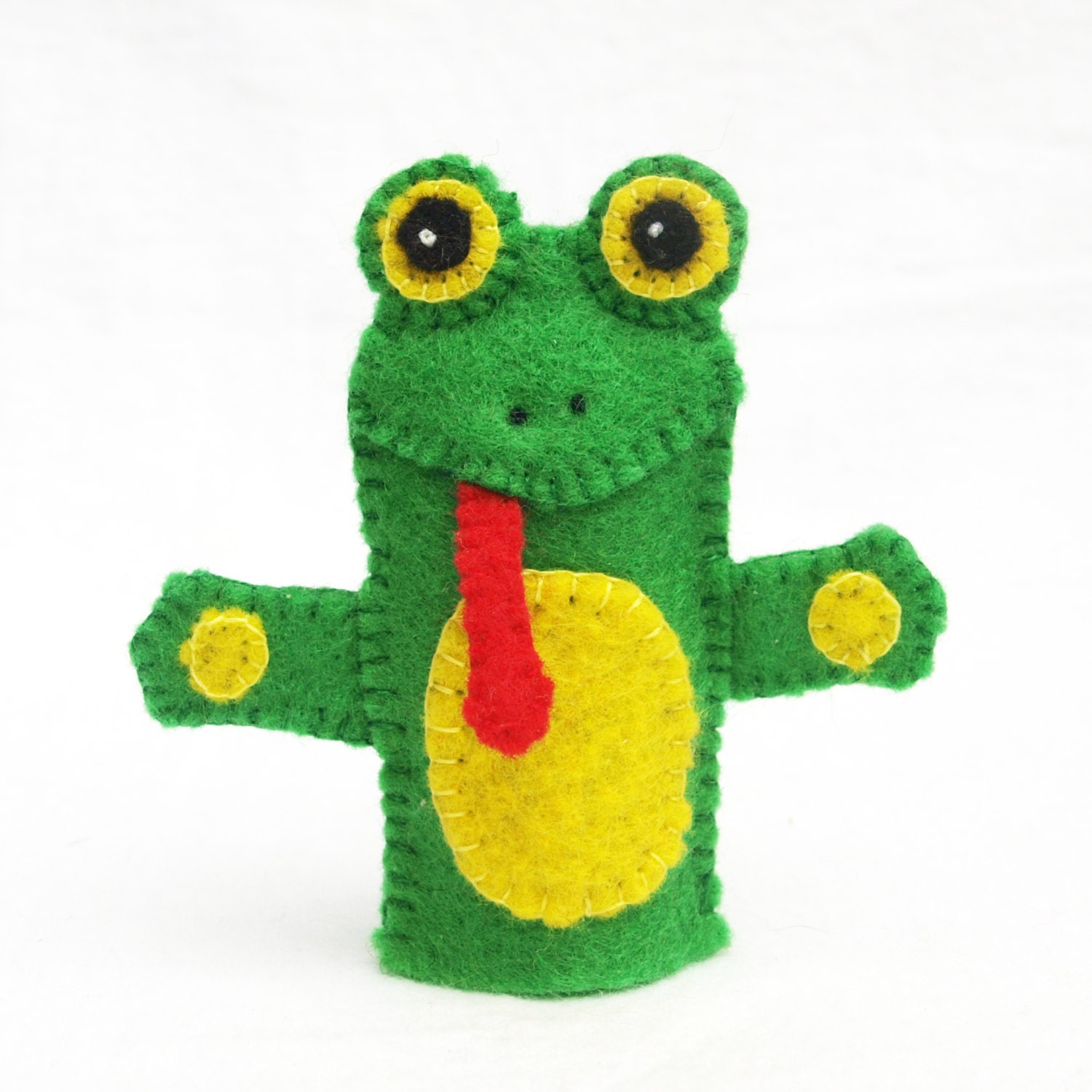 Frog felt finger puppet animal puppet storytime puppet for Frog finger puppet template