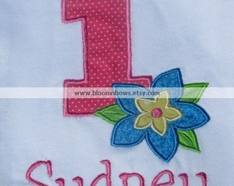 Personalized Birthday Number Luau Shirt  Ages 1 through 9