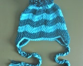 Chevron Earflap Hat- pick your size and colors