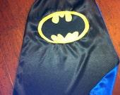 Batman Cape Size 2-8
