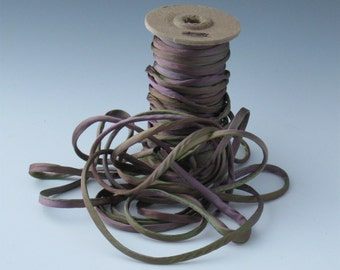 Hand dyed silk satin 1/8 inch cord