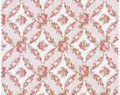 Amelia  Cotton Fabric Quilt Gate MR2170-16B Pink Floral Diamond