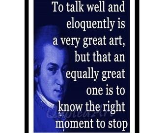 Wolfgang Amadeus MOZART Quoted Art print