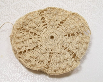 Lace Purse Crochet Bag Supply Cotton Thread Vintage Handmade UFO