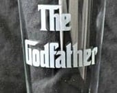 Etched Godfather Hiball Tumbler Single Glass  for the Godfather, Baptism, Christening, Godparents Gift - by Jackglass on Etsy