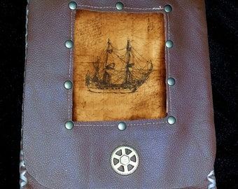 Leather Hip/Belt Pouch Pirate Steampunk Edwardian renaissance faire