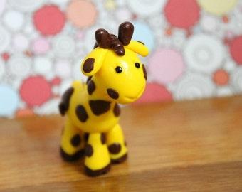 Polymer Clay Giraffe Christmas Ornament