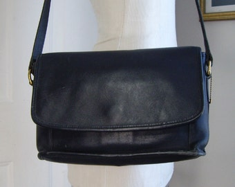 Free Shipping, Coach Leather Crossbody Shoulder Bag, Navy Blue, Purse, Women's Ladies Accessories