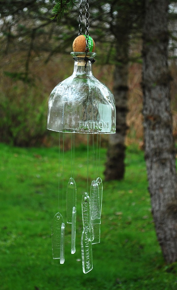 Windchimes Made From Recycled Patron Tequila By Urbanartifaks