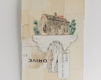 Tree House - Vintage Book Cover Collage - Image Transfer
