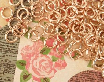 50 Custom Handmade 14kt Rose Gold Filled Jump Rings - You Pick Gauge and Diameter