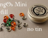 ringOs Mini REFILL - Stormy Weather - Snag-Free Ring Stitch Markers for Sock Knitting