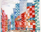 Renee Leone Travel Watercolor Canada, Vancouver