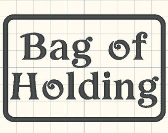 Bag of Holding Embroidery design pattern 4 inches - INSTANT Download