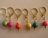 Coloured Turquoise Stitch Markers, Perfect for Knitting and Crochet