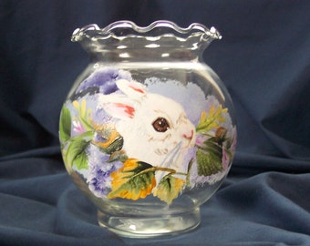 White Bunny in Lilacs