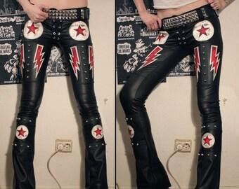 Kissin' Bombs studded lightningbolt pants