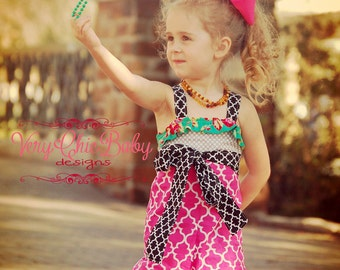 Ruffle Romper Halter Style Boutique Pageant Summer Fun Custom Made