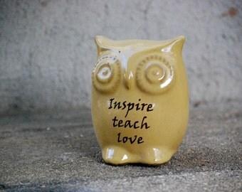 teacher gift owl figurine home decor inspirational gift for teacher thank you gift