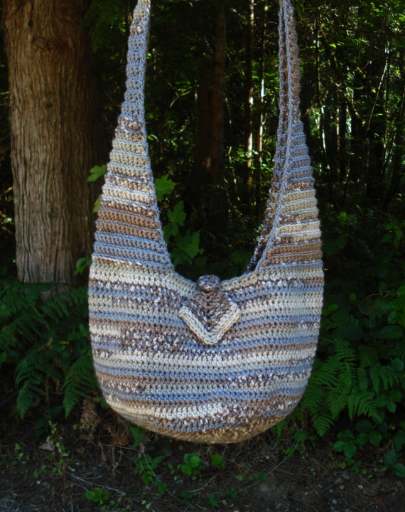 Crochet Sling Bag Pattern : Crochet Pattern PDF Everyday Sling Bag PA-206 by stellardreams