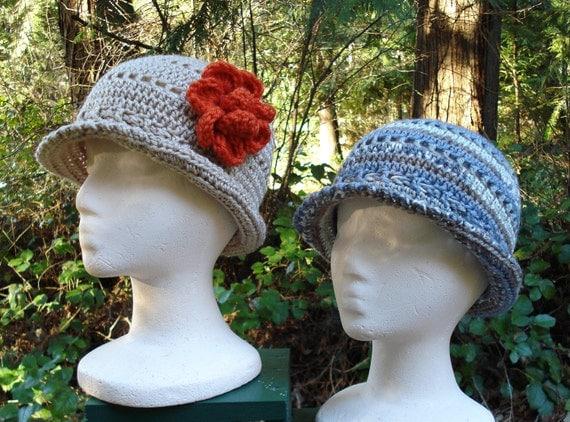 Crochet Pattern PDF – Openwork Cloche Hats – PA-115