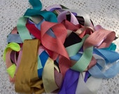 "Pure Silk Ribbon 1 1/2 "" 1"" and 3/4"" wide 25 yd Assortment"