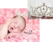 Anniversary Sale mini baby crown tiara. Pre-Order for this price will ship 10-12 business days from order placement.