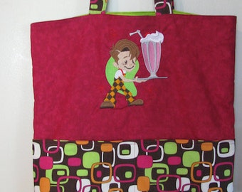 Retro Diner Tote Bag Shopping Bag Diaper Bag