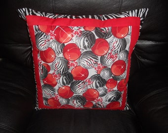 """SALE - Zebra Ornaments   --20""""  Throw Pillow COVER ONLY"""
