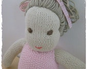 instant download - Miss Pepito knitted doll toy pdf email pattern