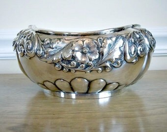 Silver Bowl, Silver Plated Bowl, Barbour Brothers, Vintage Bowl, Large Bowl