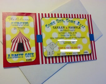 20 Carnival or Circus Themed Invitations