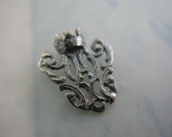 Sterling Silver Center Connector Tiny Crown Rosary Centers Religious Jewelry Supplies S629LS