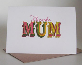 Thanks Mum ... greeting card