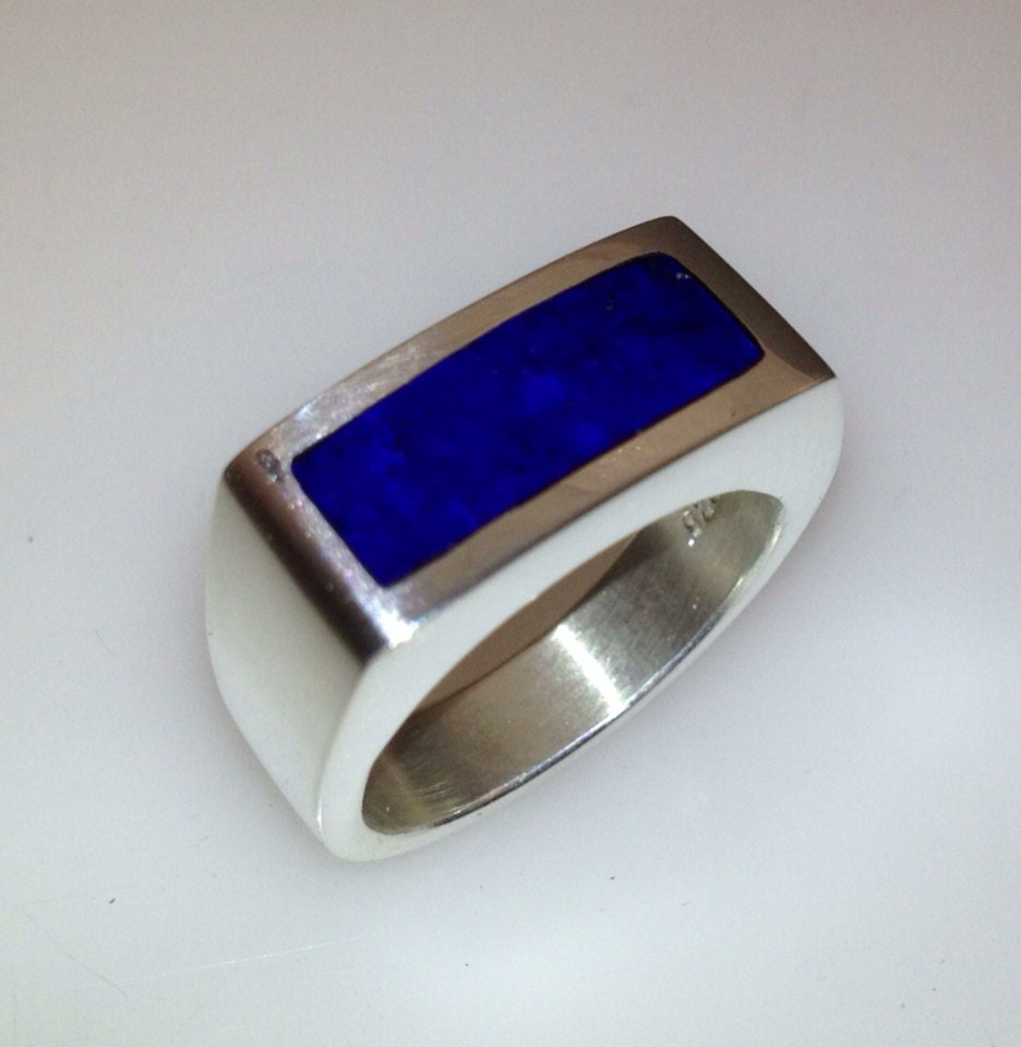Lapis Lazuli Mens Ring