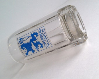 Vintage Lowenbrau Munich Glass Beer Stein