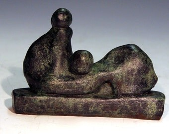 Bronze Sculpture after Henry Moore by Lazaroff