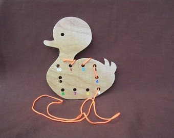 Lacing/Sewing Card-Duck