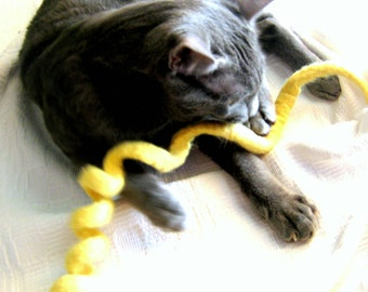 Wool Cat Toy  - Felted Swirl Rope