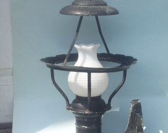 Architectural Salvage Old Building Light Fixture from Chicago