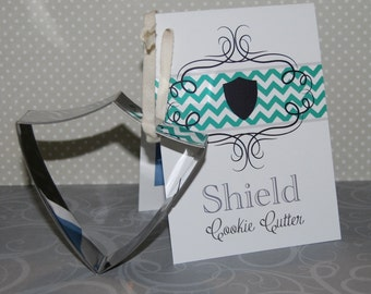 Shield Cookie Cutter - CTR Cookie Cutter - CTR cookies - Return with Honor-  Armor of God - Shield of Faith -  Armies of Helaman cookies