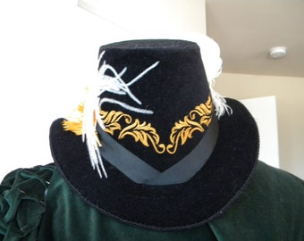 Renaissance, Elizabethan, Riding Hat, Without Feather (MADE TO ORDER)
