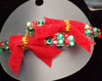 Christmas Barretts with red bows