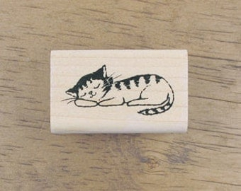 Lovely Napping Cat Stamp, U7156