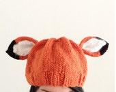 Orange Fox Hat