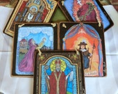 folk art package Retablo gift Saint collection Chose any 5 saints for 125 save 25