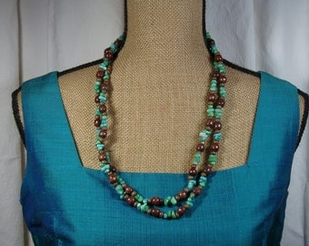 1,2, or 3 Strand Green Sea Coral Necklace